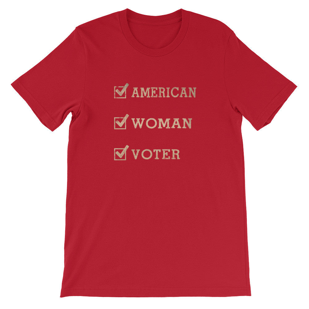 American-Woman-Voter (dark) t-shirt