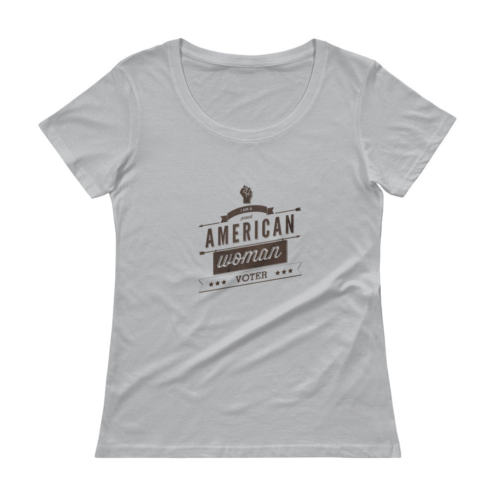Retro Style American-Woman-Voter (light) Scoopneck T-Shirt