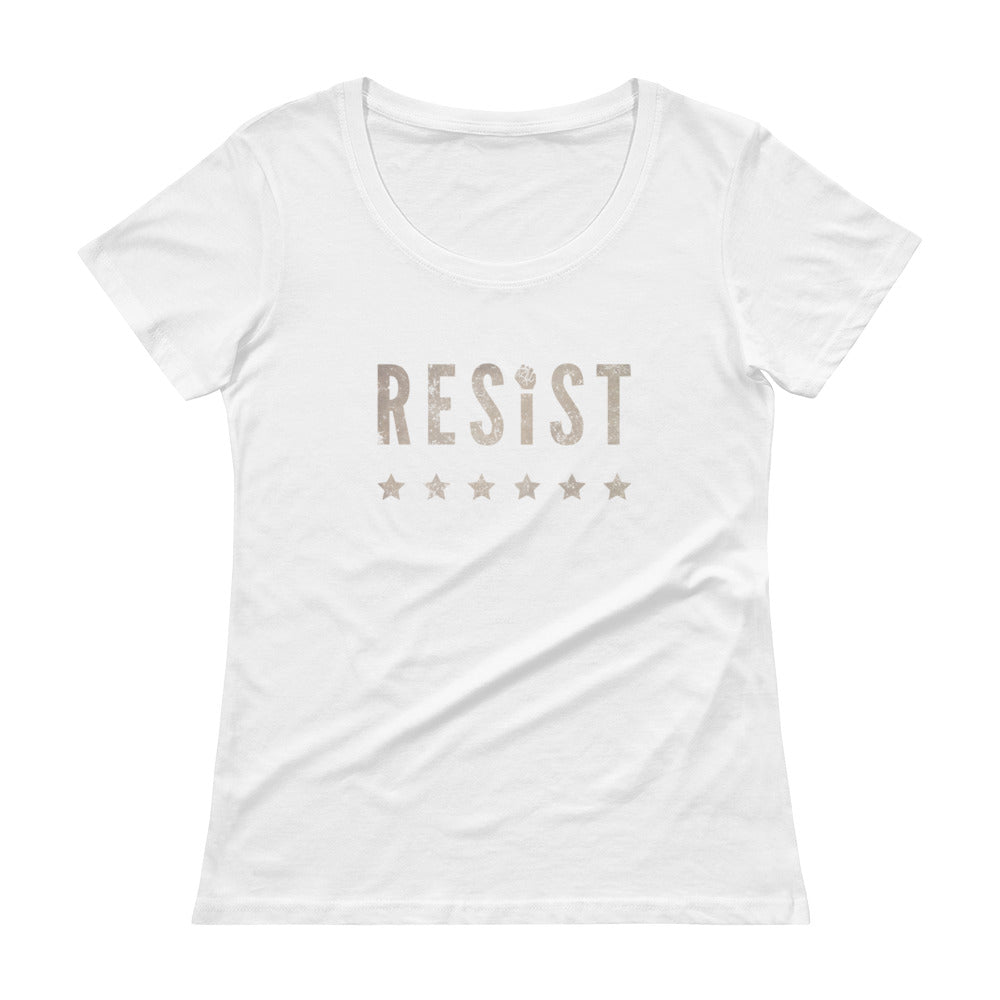 'RESIST' Ladies' Scoopneck T-Shirt