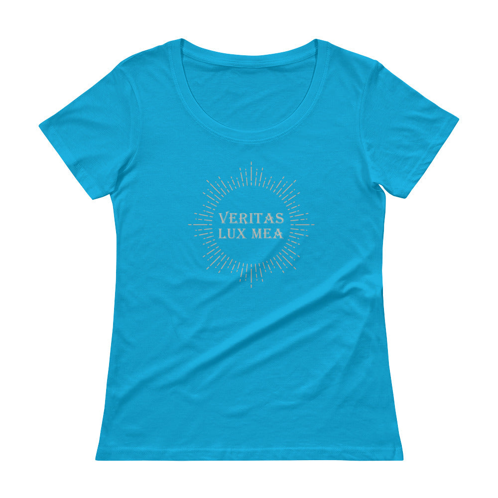'Veritas Lux Mea' Ladies' Scoopneck T-Shirt