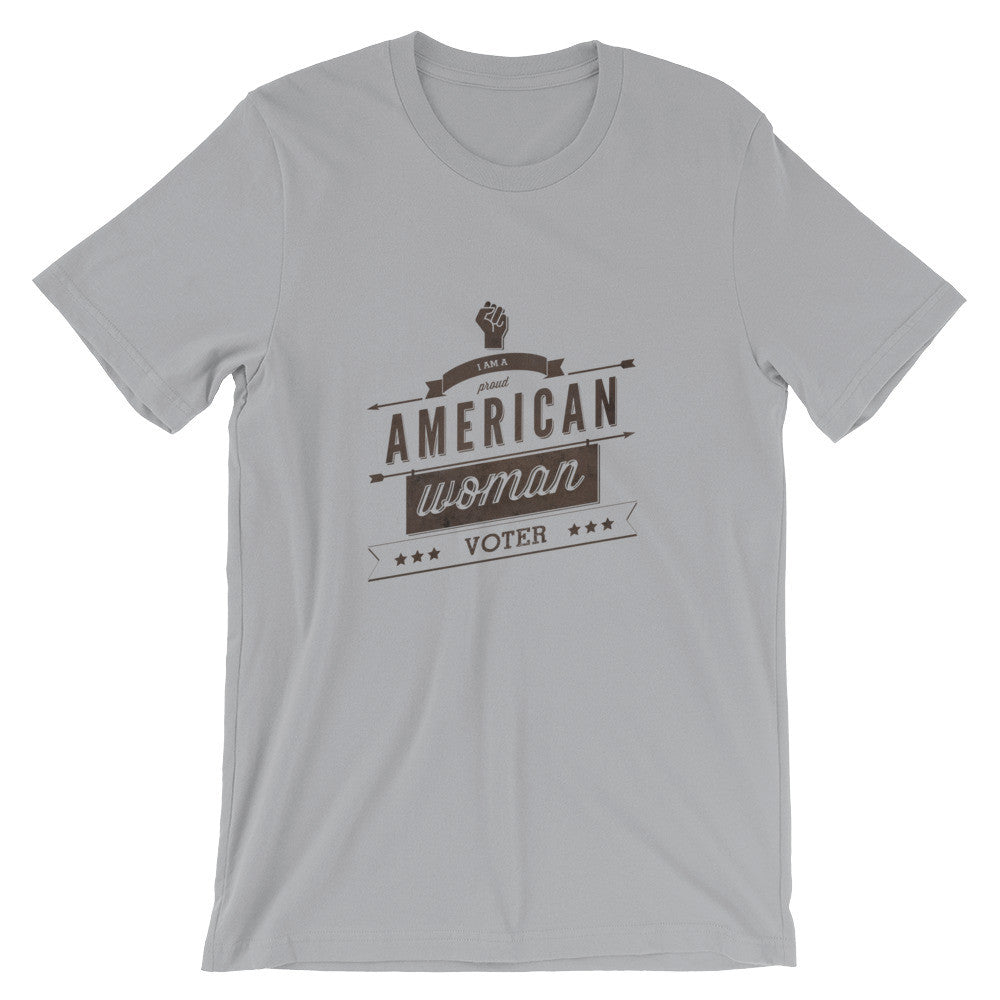 Retro Style American-Woman-Voter (light) t-shirt