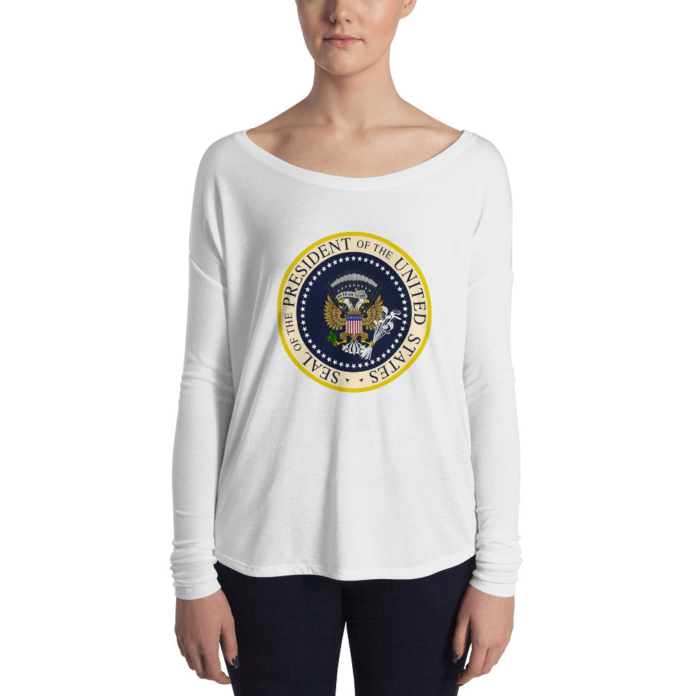Donnie's Presidential Seal Ladies' Long Sleeve Tee