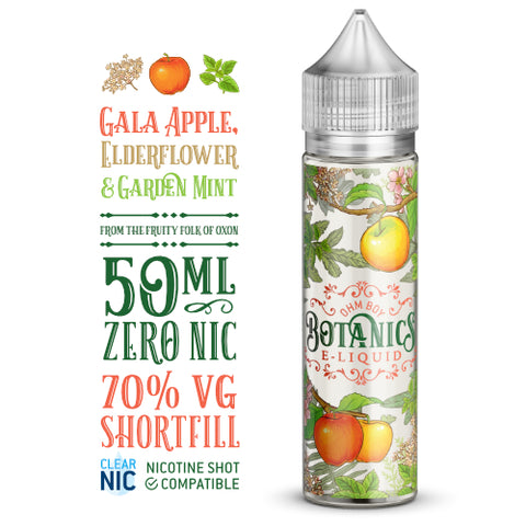 Botanics Gala Apple, Elderflower & Garden Mint - 50ml Shortfill