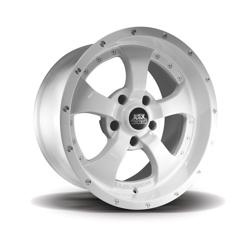 Black Mountain Gloss White 17x9 Alloy Wheel