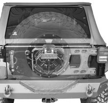Black Mountain Heavy Duty Tailgate Tyre Carrier