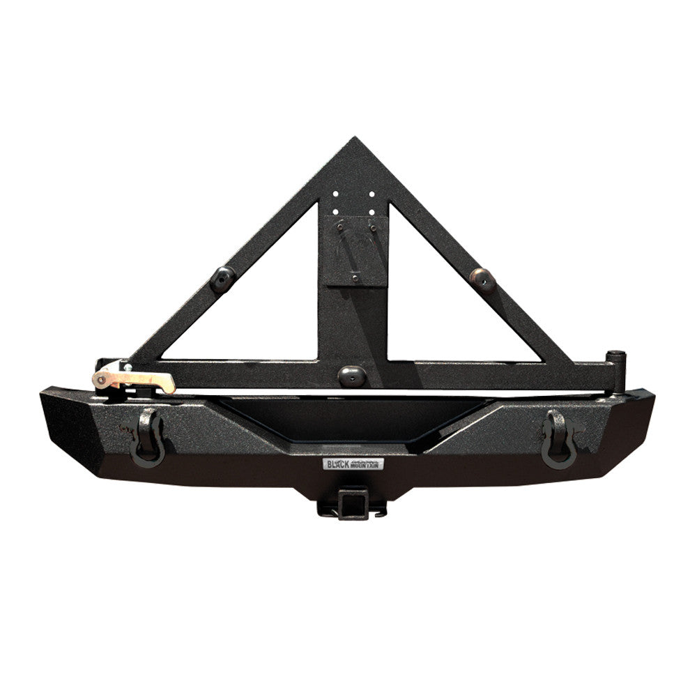 Black Mountain Rear Recovery Bumper with Tyre Carrier