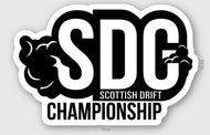 SDC Scottish Drift Championship sticker (printed)