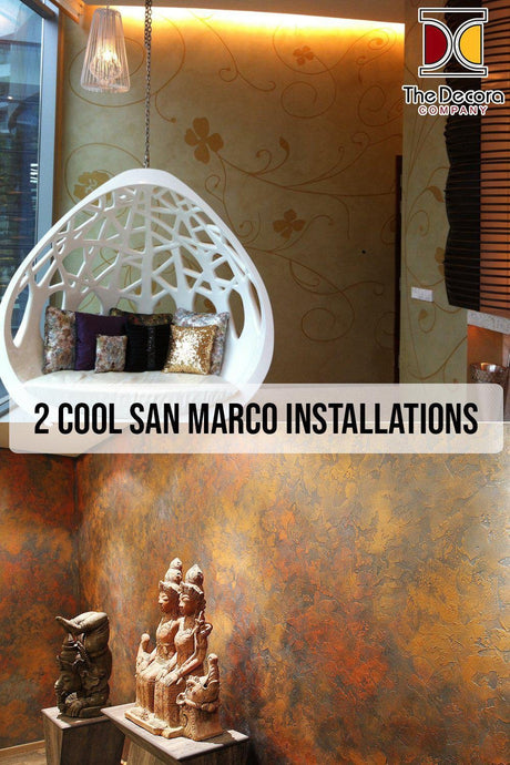 2 Cool San Marco Installations - Polished Venetian Plaster, Lime Plaster, Metallic Paint