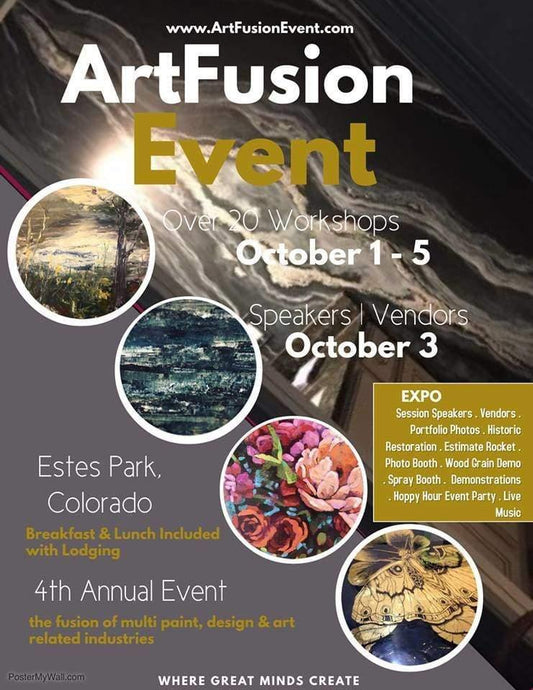 ArtFusion Event Registration - Learn Metallic Paints, Concrete Plaster, Venetian Plaster, and more