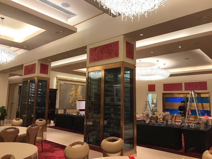Galaxy Macau Fook Lam Moon Restaurant - San Marco Marcopolo Luxury (Red) and Faux Marble Special Finish