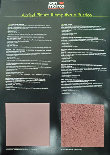 ACRISYL INTONOCHINO - Acrylic-Siloxane Facade Stucco by San Marco (White Base)