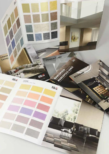 DECORATIVE PRODUCT BROCHURES - SAN MARCO DECORATIVE PAINT AND PLASTERS-Decora Paint Tools-The Decora Company