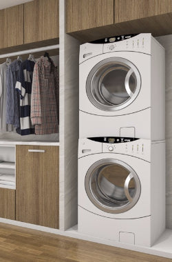 launry, washer, dryer, pair, white, front, top, load, dufresne, room, clean, clothes