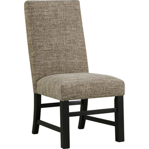 Sommerford  Side Chair - BlackBrown - (D775-01)