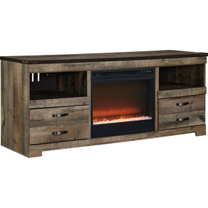 Trinell Entertainment  Fireplace - Brown
