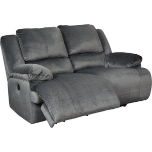 Clonmel Power Reclining Loveseat - Charcoal