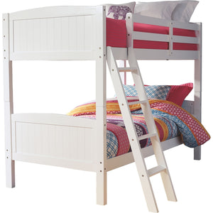 Brianna Twin Bunk Bed Rails and Ladder - White