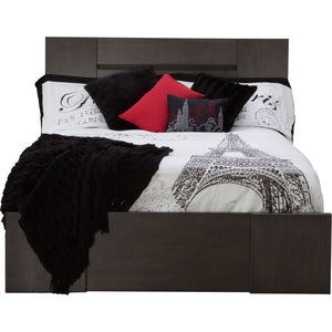 Milano 3 Piece King Platform Bed - Graphite