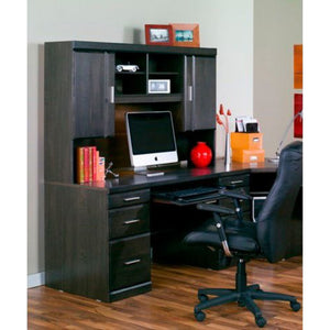 Worksite Desk & Hutch - Charcoal