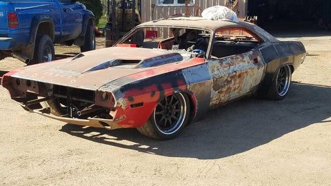mantic-1970-challenger-hellcat-sema-build-rusty