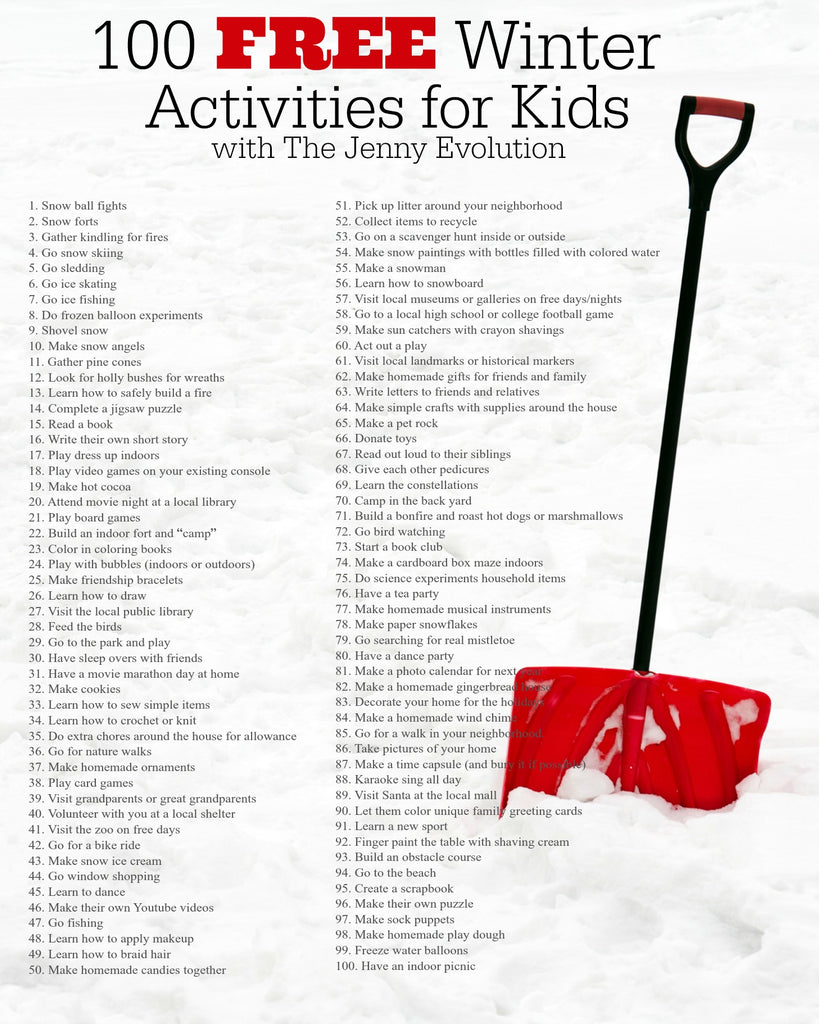 Winter Break Ideas for Kids