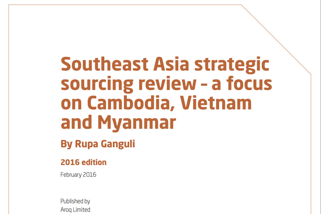 Cover of a Rupa Ganguli report about Southeast Asia Strategic sourcing review