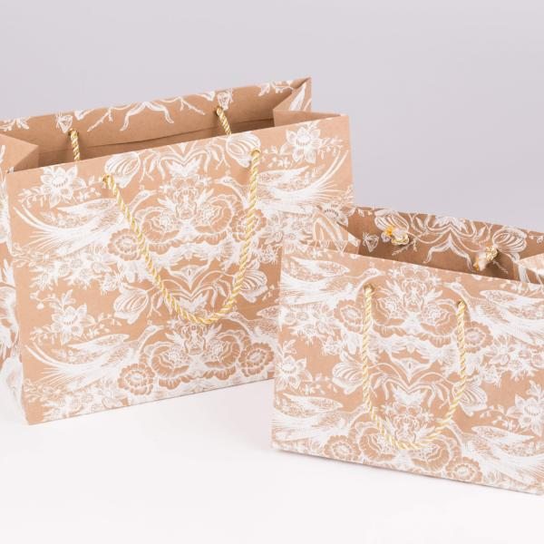 Vintage Design Kraft Gift Bag - [product-type] - Inclusive Trade