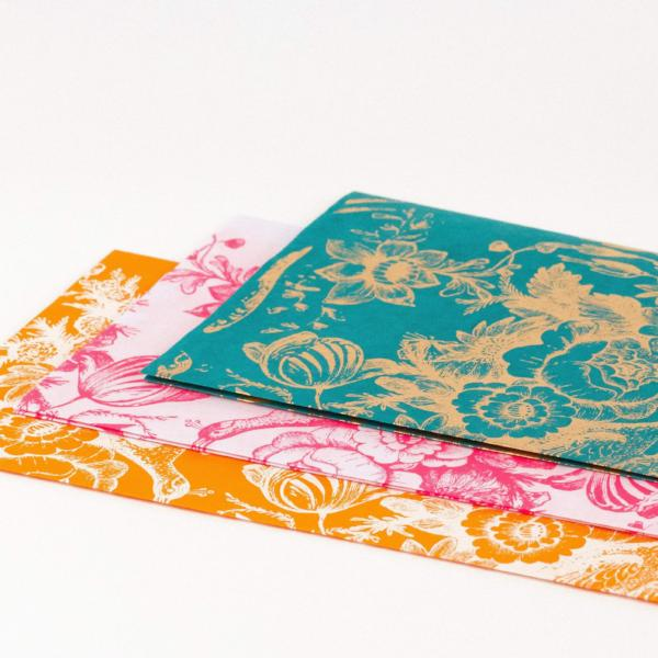 Vintage Design Silk Screened Gift Tissue (Set of 2 Sheets) - [product-type] - Inclusive Trade