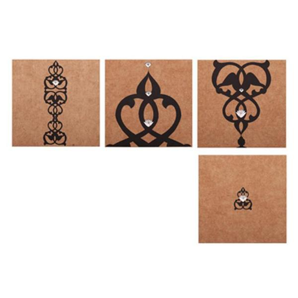 Mini Note Set, With Envelopes, Imaan Design  (Set of 12) - [product-type] - Inclusive Trade
