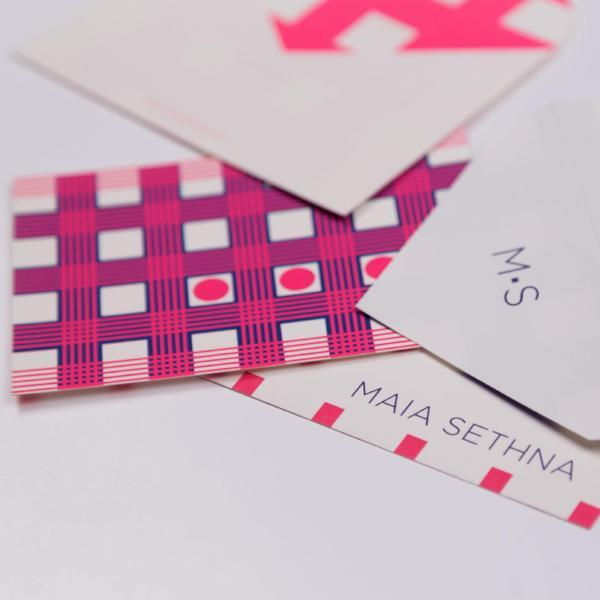 Note Set, Check Design (12 x Note Card + Envelopes) - [product-type] - Inclusive Trade