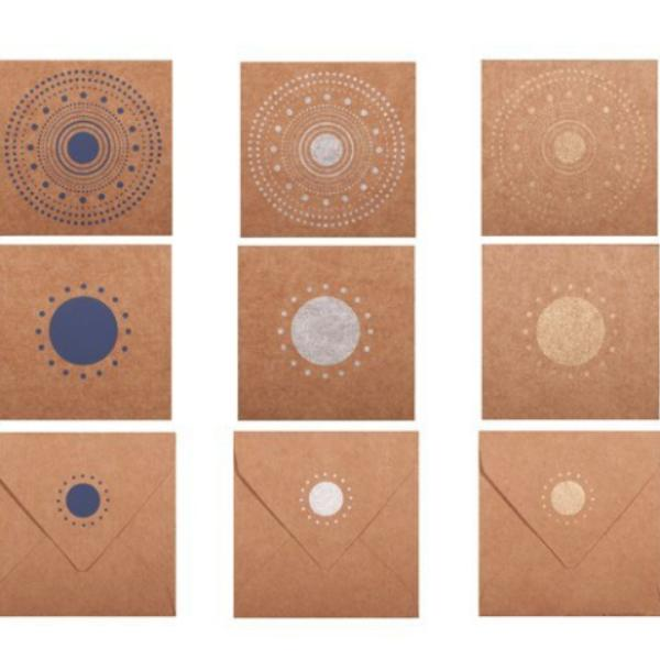 Sasha Design Mini Card and Envelope Note Set (Set of 12) - [product-type] - Inclusive Trade