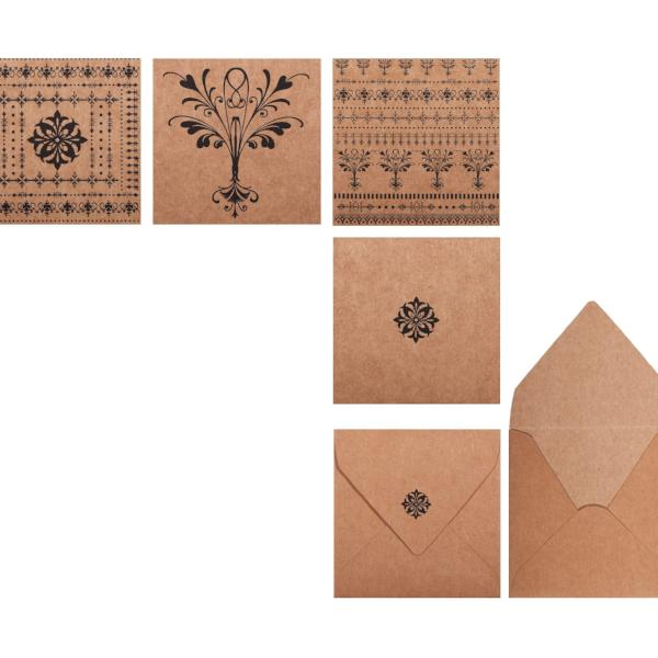 Mini Note Set, With Envelopes, Mira Design (Set of 12) - [product-type] - Inclusive Trade