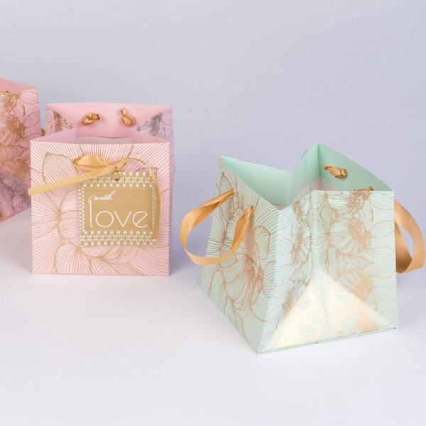 Small Flower Power Design Gift Bag - [product-type] - Inclusive Trade