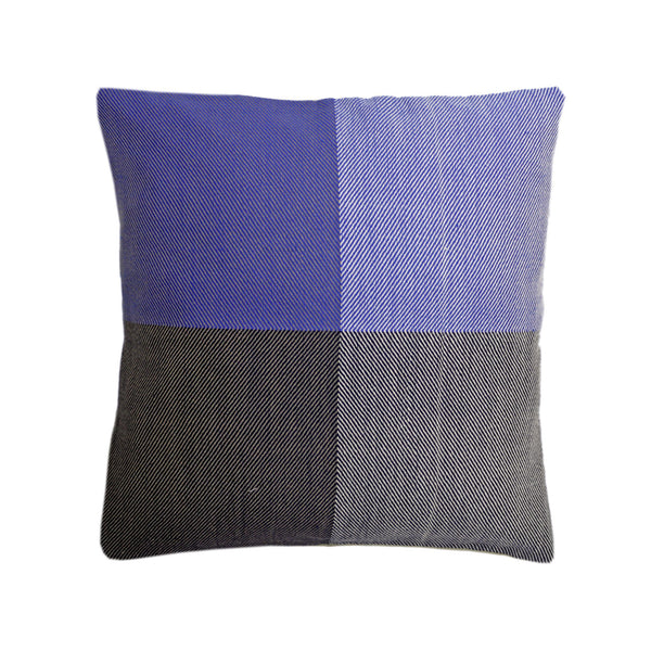 Handwoven cushion cover - Himalayan Merino Wool - Midnight Blue - [product-type] - Inclusive Trade