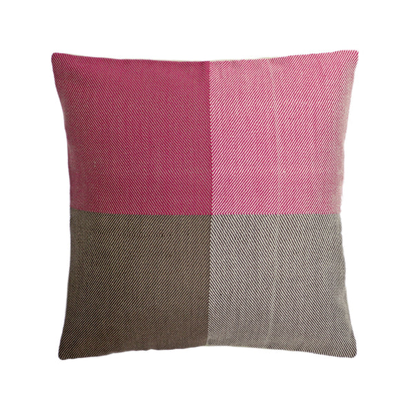 Handwoven cushion cover - Himalayan Merino Wool - Jewel Pink - [product-type] - Inclusive Trade