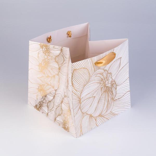 Luxury Gift Bag, Large Flower Power Design (White) - [product-type] - Inclusive Trade