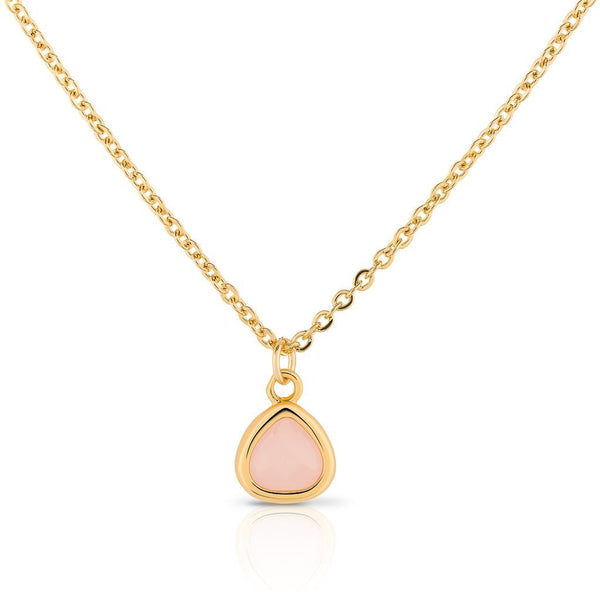 18 carat gold plated - Threads of Joy - pendant necklace - Rose Quartz - [product-type] - Inclusive Trade