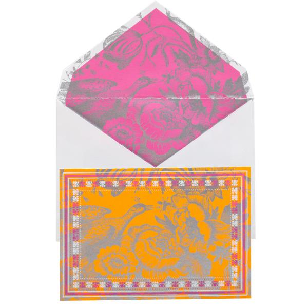 Note Set, French Saffron Design (12 x Note Card + Envelopes) - [product-type] - Inclusive Trade