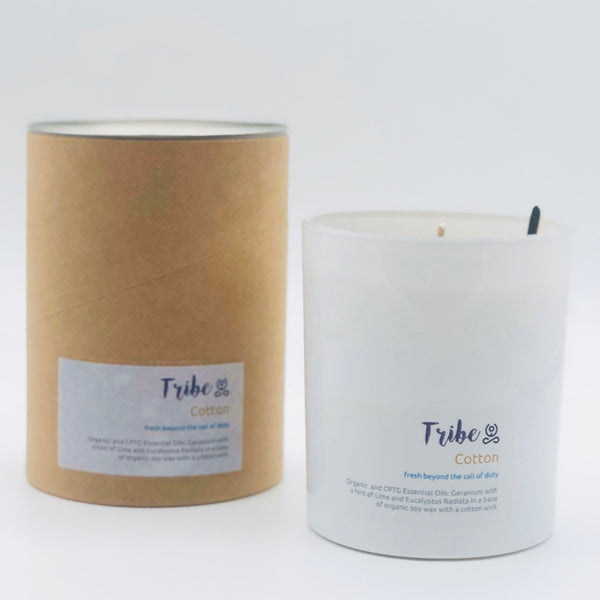 Essential oil soy candle - The Cotton - [product-type] - Inclusive Trade