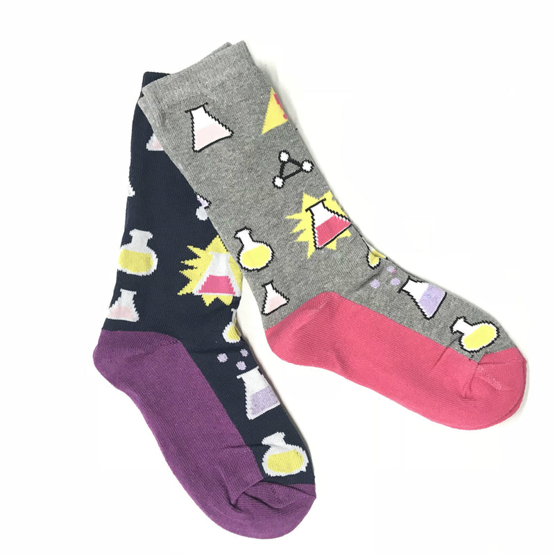 Science Socks - Experiment in progress (pack of 2) - Hot Pink & Purple - [product-type] - Inclusive Trade