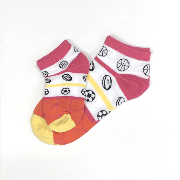Ankle socks - sports are fun - Pink - [product-type] - Inclusive Trade