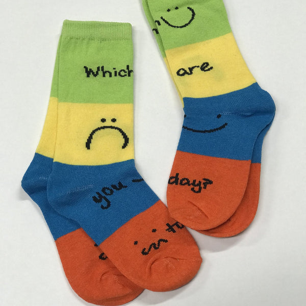"Fun socks - ""Which one are you today?"" - Yellow & Green - [product-type] - Inclusive Trade"