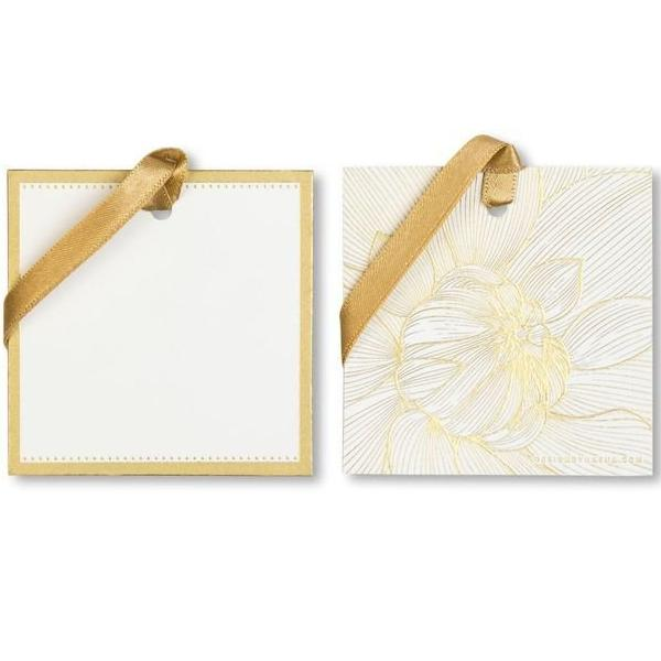 Gift Tag + Ribbons, Flower Power Design, Handmade, Silk Screened (Set of 12 Pieces) - [product-type] - Inclusive Trade