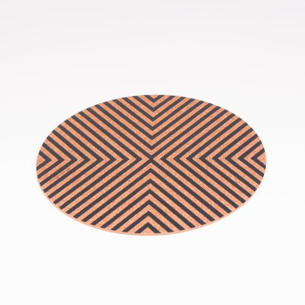 Rubberised Round Cork Trivet (Double-Sided) - [product-type] - Inclusive Trade