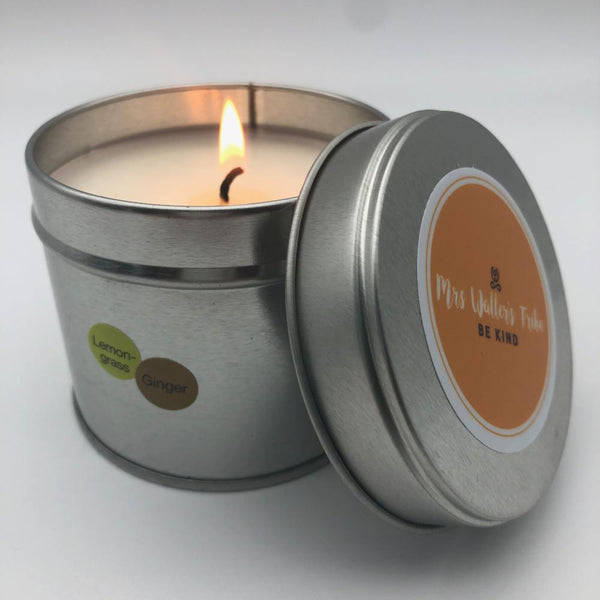 Scented candle in a tin - Ginger & Lemongrass - [product-type] - Inclusive Trade