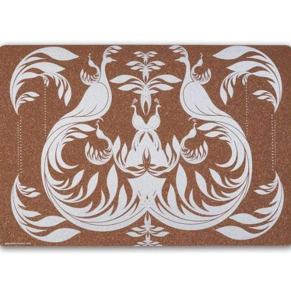 Sustainable Tableware: Cork Table Mat - Bird Design (Set of 6) - [product-type] - Inclusive Trade