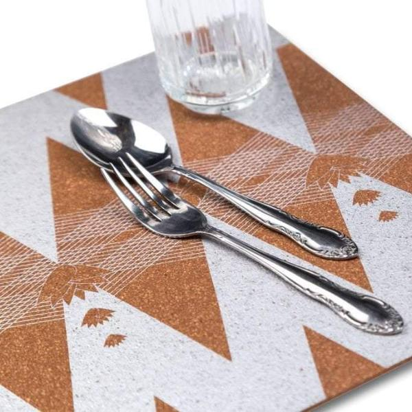 Cork Table Mat, Lotus (Set of 6) - [product-type] - Inclusive Trade
