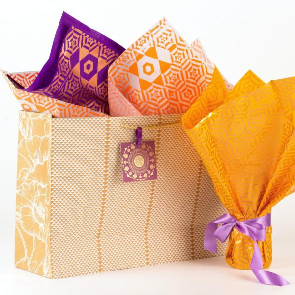 Triangle Design Kraft Gift Bag - [product-type] - Inclusive Trade