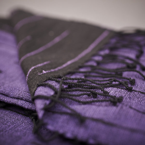 Handwoven cotton scarves from Ethiopia - Aristocratic Purple - [product-type] - Inclusive Trade