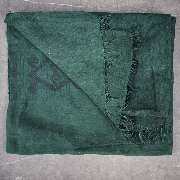 Bottle green handwoven - Ethiopian Cotton Scarf - [product-type] - Inclusive Trade